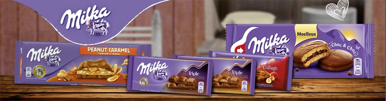 Milka chocolate alpenmilk banner