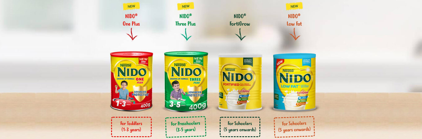 nido milk powder banner