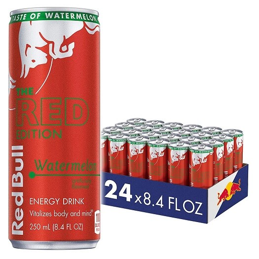 red bull energy drinks red edition watermelon flavor