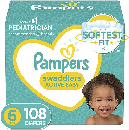 pampers swaddlers size 6 106 diapers