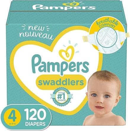 pampers swaddlers size 4 120 diapers