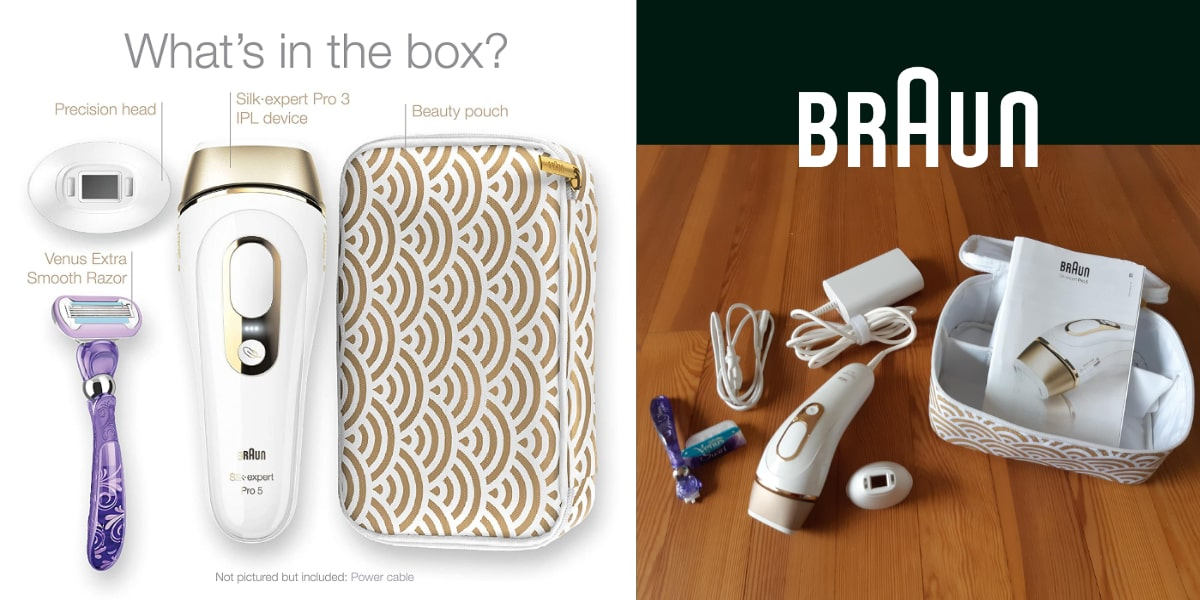 accessories included in the Braun silk expert pro 5 package