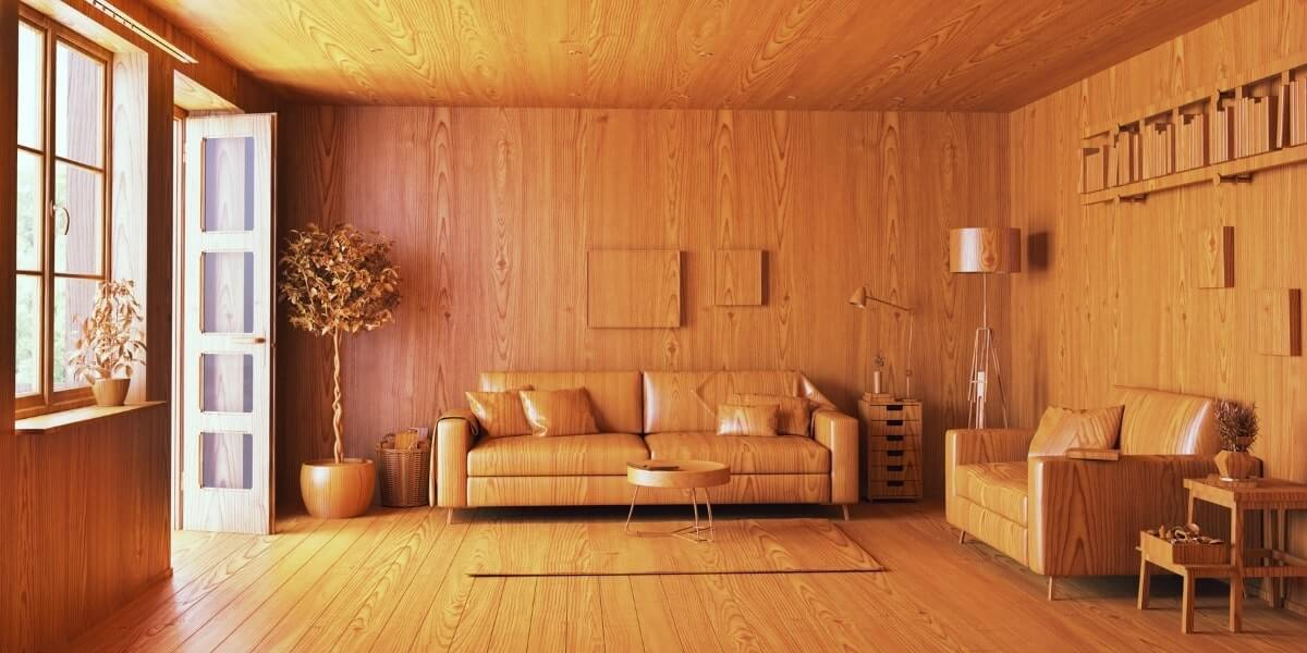 wooden interior woodworking project