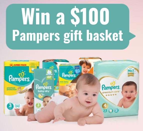 win a $100 pampers gift basket