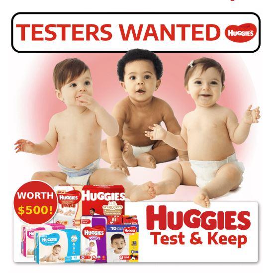 Get $500 worth of Huggies Samples